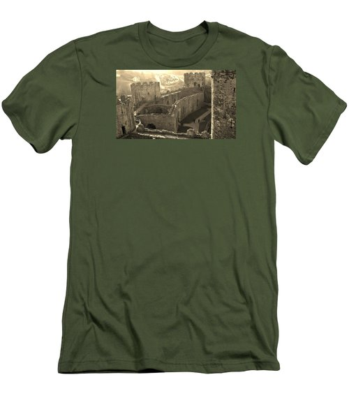 Conwy Castle Men's T-Shirt (Slim Fit) by Richard Brookes