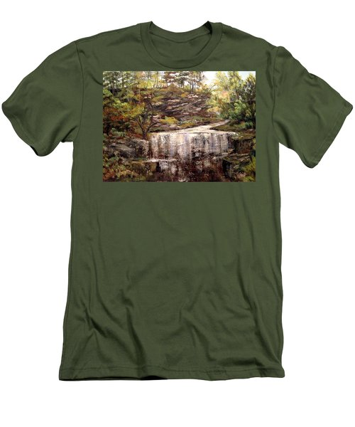 Cool Waterfall Men's T-Shirt (Slim Fit) by Dorothy Maier