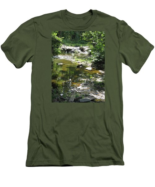 Men's T-Shirt (Slim Fit) featuring the photograph Cool Waters by Ellen Levinson
