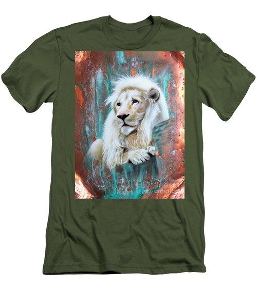 Copper White Lion Men's T-Shirt (Athletic Fit)