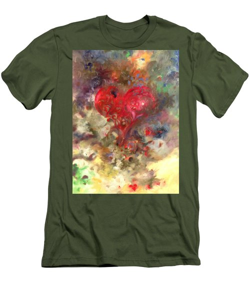 Corazon Men's T-Shirt (Slim Fit) by Julio Lopez