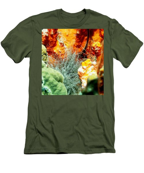 Men's T-Shirt (Slim Fit) featuring the photograph Corkscrew Anemone Grove by Amy McDaniel