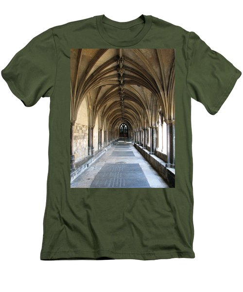 Men's T-Shirt (Slim Fit) featuring the photograph Corridor Of Arches by Stephanie Grant