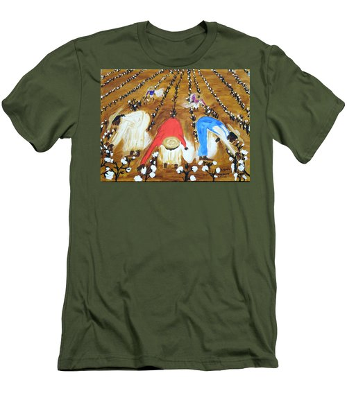 Cotton Picking People Men's T-Shirt (Athletic Fit)