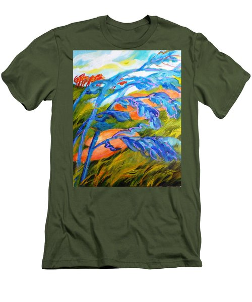 Count The Wind Men's T-Shirt (Slim Fit) by Betty M M   Wong