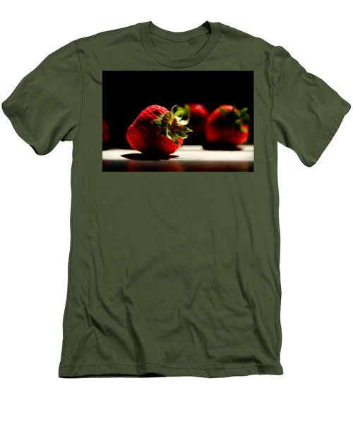 Countertop Strawberries Men's T-Shirt (Slim Fit) by Michael Eingle