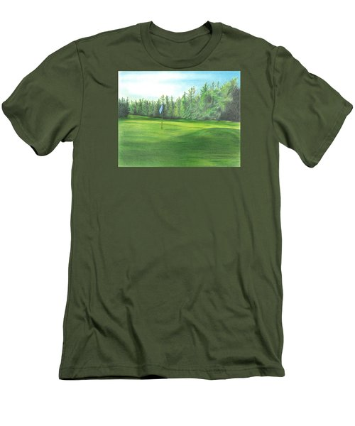 Men's T-Shirt (Slim Fit) featuring the drawing Country Club by Troy Levesque