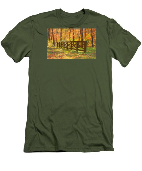 Men's T-Shirt (Slim Fit) featuring the photograph Country Fence by Geraldine DeBoer