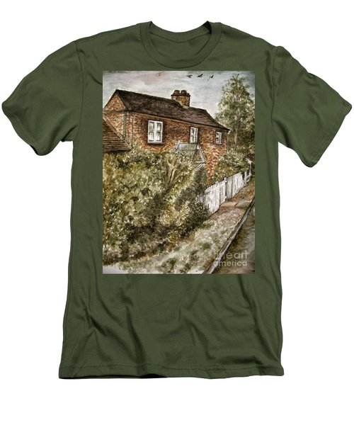 Old English Cottage Men's T-Shirt (Athletic Fit)