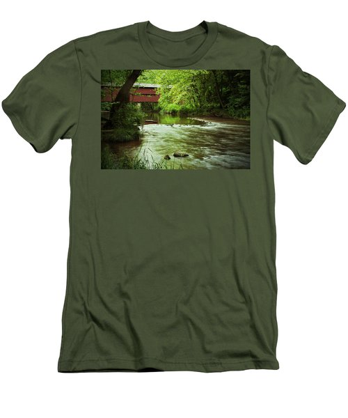 Covered Bridge Over French Creek Men's T-Shirt (Athletic Fit)