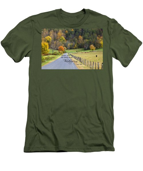 Cow Pasture With Scripture Men's T-Shirt (Athletic Fit)