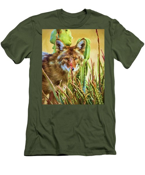 Coyote In The Aloe Men's T-Shirt (Athletic Fit)