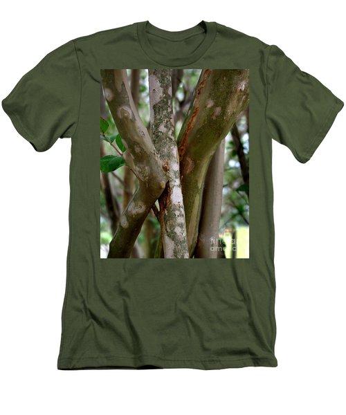 Men's T-Shirt (Slim Fit) featuring the photograph Crape Myrtle Branches by Peter Piatt