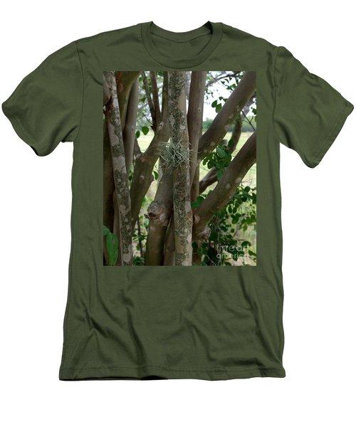 Men's T-Shirt (Slim Fit) featuring the photograph Crape Myrtle Growth Ball by Peter Piatt