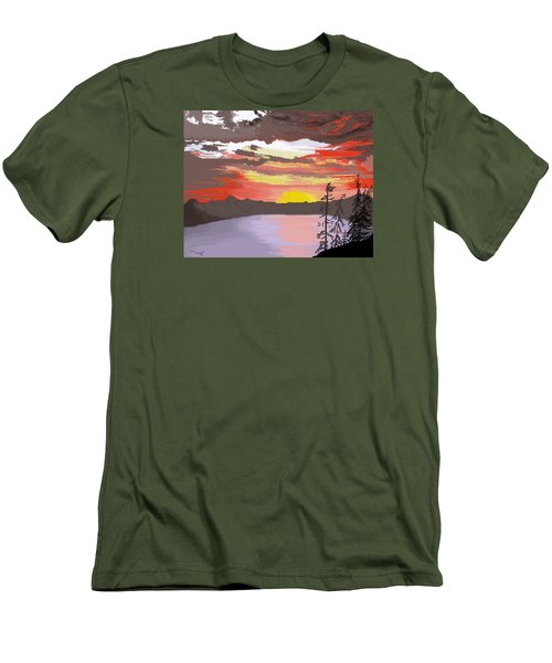 Crater Lake Men's T-Shirt (Slim Fit) by Terry Frederick