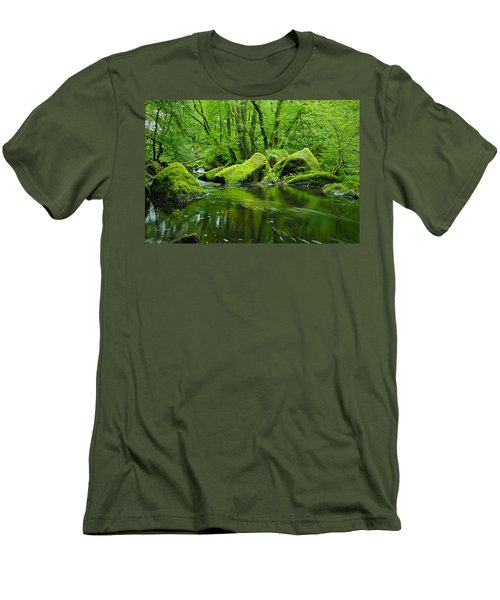 Creek In The Woods Men's T-Shirt (Athletic Fit)