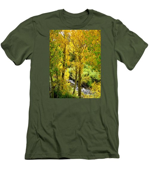 Men's T-Shirt (Slim Fit) featuring the photograph Creekside by Marilyn Diaz