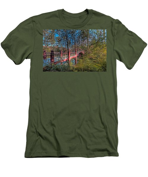 Men's T-Shirt (Slim Fit) featuring the photograph Crim Dell Bridge by Jerry Gammon