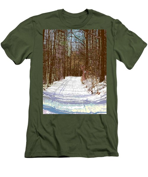Men's T-Shirt (Slim Fit) featuring the photograph Cross Country Trail by Nina Silver