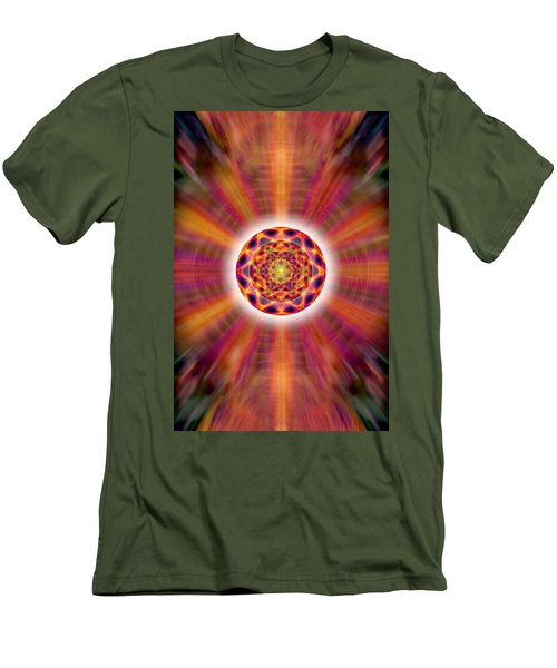 Men's T-Shirt (Slim Fit) featuring the drawing Crystal Ball Of Light by Derek Gedney