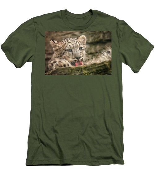 Cub And Tongue Men's T-Shirt (Athletic Fit)