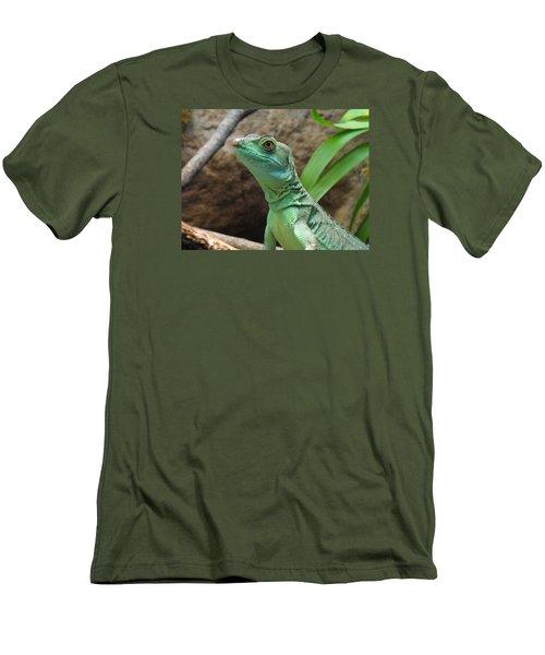 Men's T-Shirt (Slim Fit) featuring the photograph Curious Gaze by Lingfai Leung