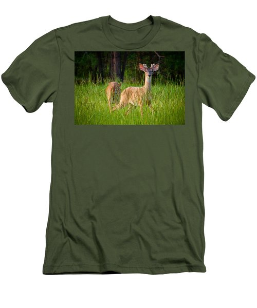 Curious Men's T-Shirt (Slim Fit) by Linda Unger