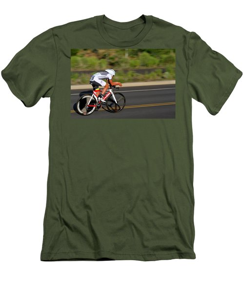 Men's T-Shirt (Slim Fit) featuring the photograph Cycling Time Trial by Kevin Desrosiers