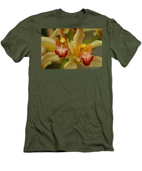 Cymbidium Twins Men's T-Shirt (Athletic Fit)