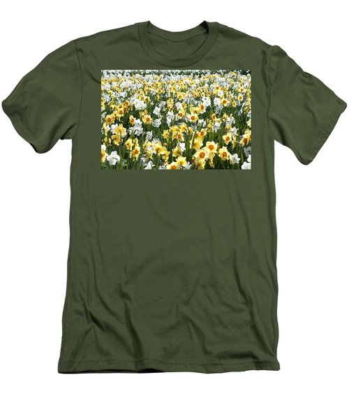 Men's T-Shirt (Slim Fit) featuring the photograph Daffodils by Lana Enderle