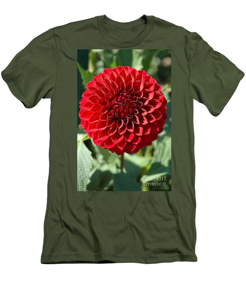 Men's T-Shirt (Slim Fit) featuring the photograph Dahlia Xii by Christiane Hellner-OBrien