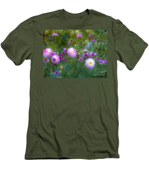 Dahlias And Cosmos  Men's T-Shirt (Athletic Fit)