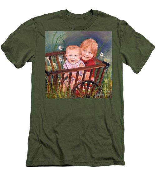 Daisy - Portrait - Girls In Wagon Men's T-Shirt (Athletic Fit)