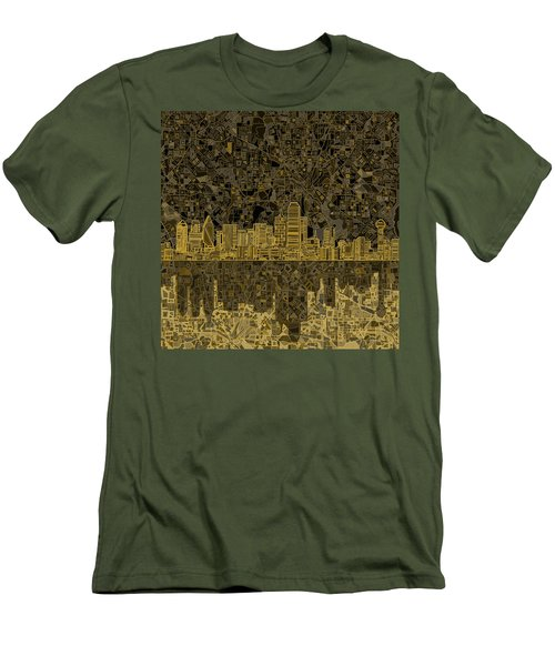 Dallas Skyline Abstract 3 Men's T-Shirt (Slim Fit)