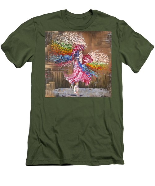 Dance Through The Color Of Life Men's T-Shirt (Athletic Fit)