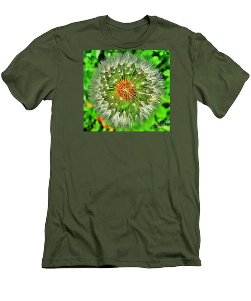 Men's T-Shirt (Slim Fit) featuring the photograph Dandelion Circle by John King