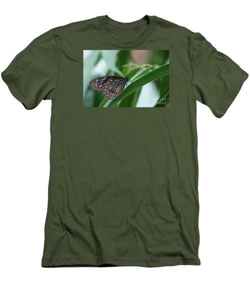 Dark Blue Tiger Butterfly #2 Men's T-Shirt (Athletic Fit)