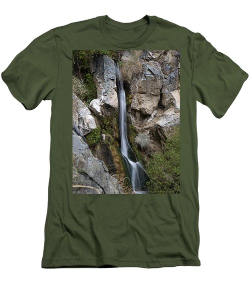 Men's T-Shirt (Slim Fit) featuring the photograph Darwin Falls by Joe Schofield