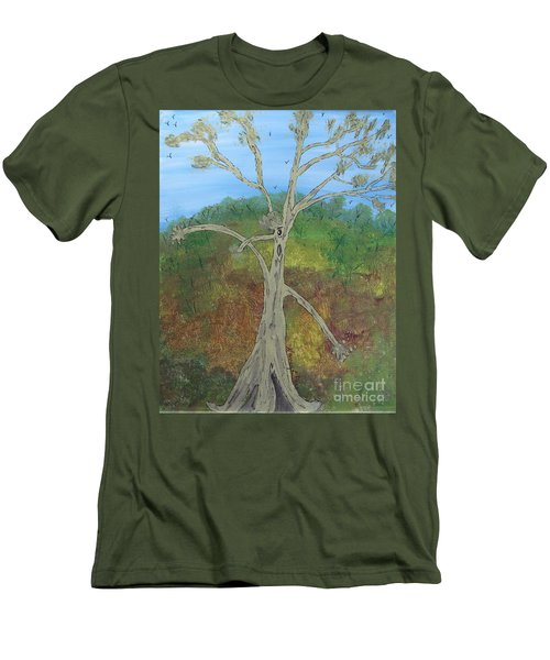 Dash The Running Tree Men's T-Shirt (Athletic Fit)