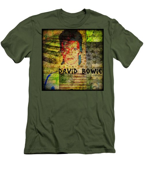David Bowie Men's T-Shirt (Slim Fit) by Absinthe Art By Michelle LeAnn Scott