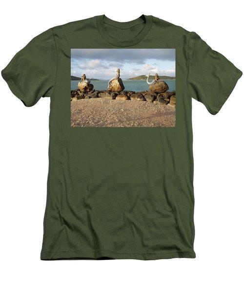 Men's T-Shirt (Slim Fit) featuring the photograph Daydream Mermaids by Absinthe Art By Michelle LeAnn Scott