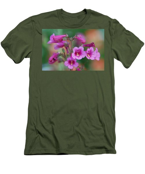 Men's T-Shirt (Slim Fit) featuring the photograph Pink Flowers by Tam Ryan