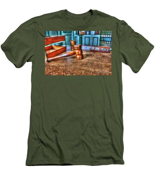 Dealing Justice Men's T-Shirt (Slim Fit) by Dan Stone