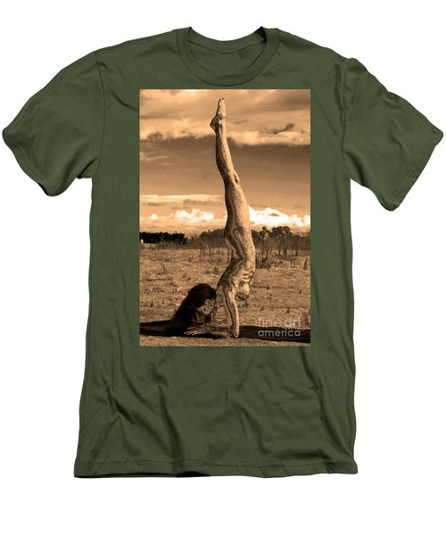 Death Of A Yogi Men's T-Shirt (Athletic Fit)