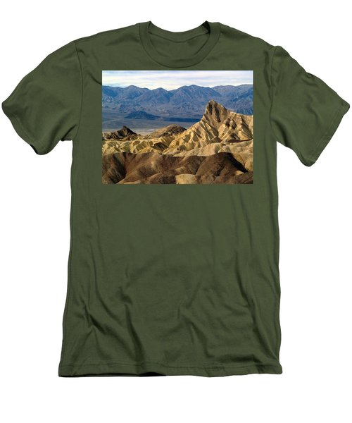 Death Valley Np Zabriskie Point 11 Men's T-Shirt (Slim Fit) by Jeff Brunton