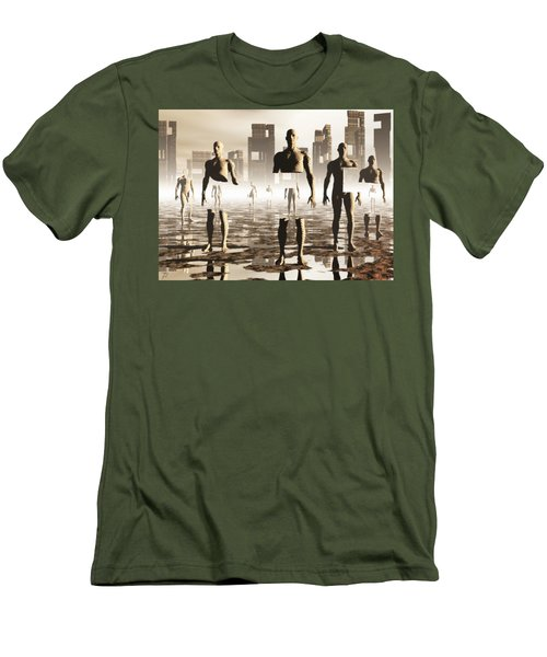Men's T-Shirt (Slim Fit) featuring the digital art Deconstruction by John Alexander