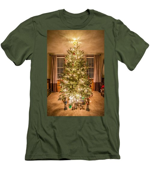 Men's T-Shirt (Slim Fit) featuring the photograph Decorated Christmas Tree by Alex Grichenko
