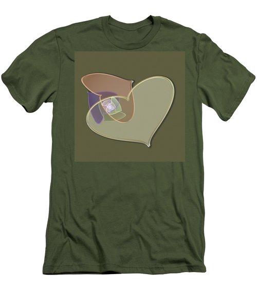 Decorative Heart Men's T-Shirt (Athletic Fit)
