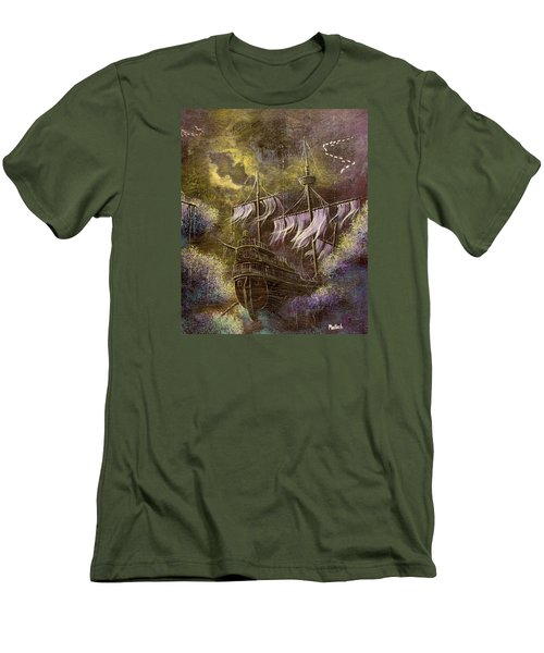 Deep Peace Men's T-Shirt (Slim Fit) by Jack Malloch