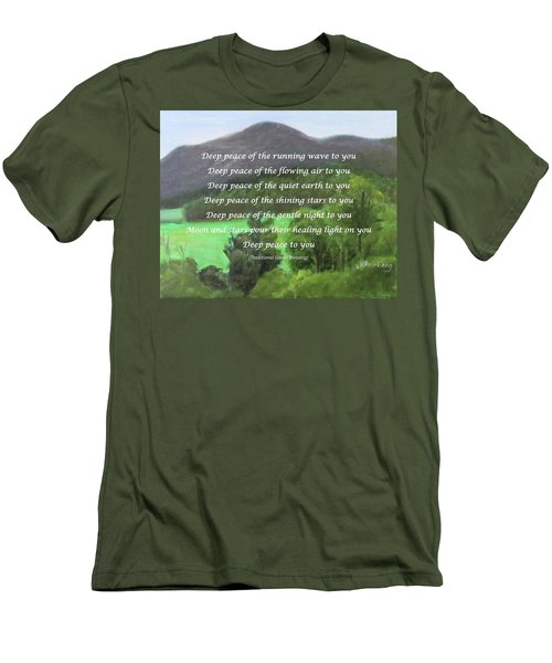 Deep Peace With Ct River Valley Men's T-Shirt (Athletic Fit)
